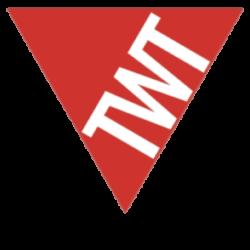 Logo TWT con sito nero